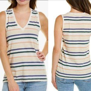 MADEWELL Striped V-Neck Casual Tank M